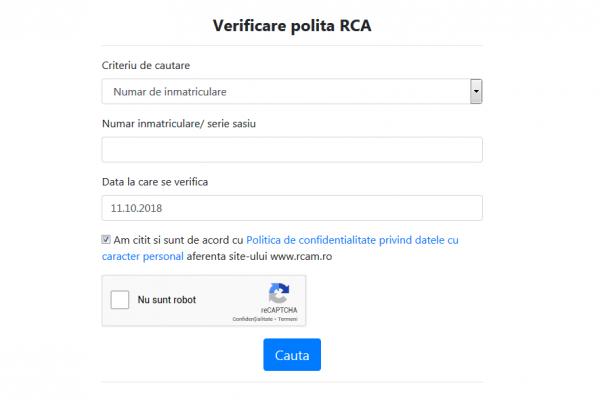 Verificare Asigurare RCA Online